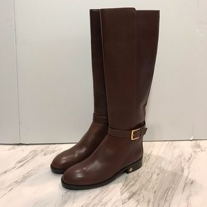 Tory Burch Brooke Brown Riding Boots